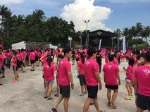 Music Run Singapore 2015 Stock Photo