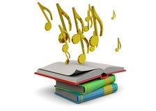 Music's Book Concept - 3D Stock Photos