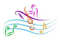 Music sailing Royalty Free Stock Photo