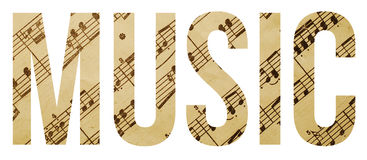 Music. Sample text banner with copyspace Royalty Free Stock Image