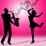Music Saxophone Represents Sound Track And Audio Royalty Free Stock Image