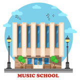 Music school or college, conservatory building Stock Photo