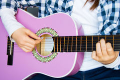 Music school of guitar for children Stock Photography