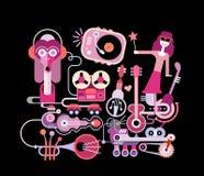 Music School vector illustration Royalty Free Stock Image
