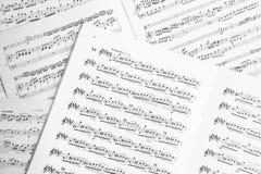 Music score Stock Photos