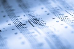 Music score Royalty Free Stock Images