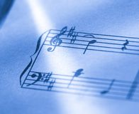 Music score Royalty Free Stock Photos