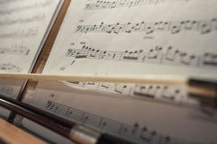 Music score. Real photo of music score at concert Stock Image
