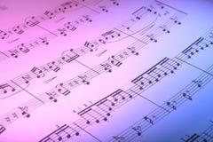 Music score. Music book Stock Photo