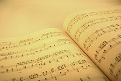 Music score. Music book Royalty Free Stock Images
