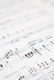 Music score Royalty Free Stock Image