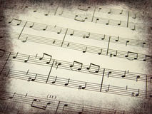 Music score background Royalty Free Stock Photos
