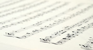 Music score background Stock Photo