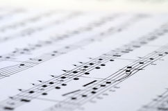 Music score background Royalty Free Stock Image
