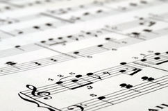 Music score background Stock Photos