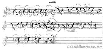 Music Score by J.-J. Grandville: A Waltz royalty free stock photos