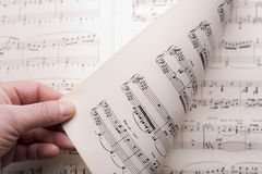 Music score Stock Images