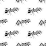 Music score and notes background seamless pattern Royalty Free Stock Photo