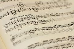 Music score sheet royalty free stock image