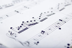 Music scores. Details of music scores Royalty Free Stock Images