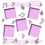 Music scrapbook Royalty Free Stock Photography