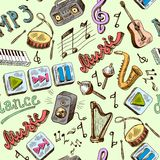 Music Seamless Royalty Free Stock Images