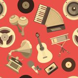 Music seamless background Stock Image