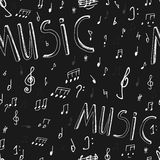 Music seamless Board Royalty Free Stock Image