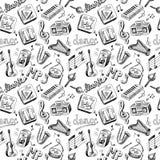 Music seamless Stock Image