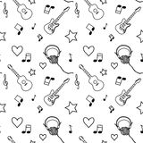 Music seamless pattern Stock Images