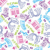 Music seamless pattern Royalty Free Stock Photography
