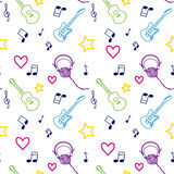 Music seamless pattern Royalty Free Stock Images