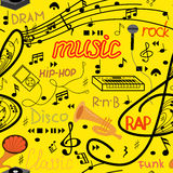 Music seamless pattern Royalty Free Stock Photos