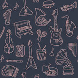 Music seamless pattern. Vector Illustration Royalty Free Stock Photos