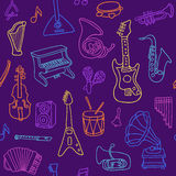 Music seamless pattern. Vector Illustration Royalty Free Stock Photo