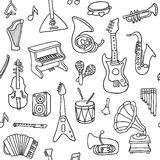 Music seamless pattern. Vector Illustration Stock Image