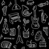 Music seamless pattern. Vector Illustration Royalty Free Stock Photos