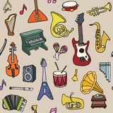 Music seamless pattern. Vector Illustration Stock Image