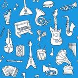 Music seamless pattern Stock Photo