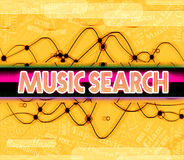 Music Search Indicates Sound Tracks And Audio Royalty Free Stock Photos