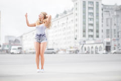 Music and selfie. Stock Images