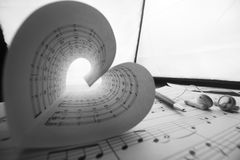 Music series in the form of heart Royalty Free Stock Photos