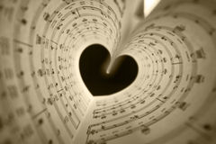 Music series in the form of heart Royalty Free Stock Photo