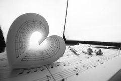 Music series in the form of heart Stock Images