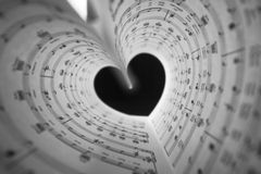 Music series in the form of heart Stock Image