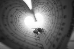 Music series in the form of heart Royalty Free Stock Images
