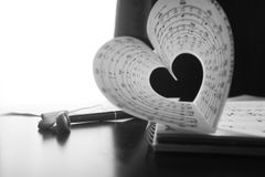 Music series in the form of heart Stock Photos