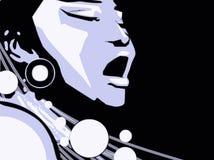 Singer Woman Music Jazz Blues Comics Cartoon