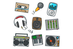 Music set. Dj music audio sound multimedia Royalty Free Stock Photography