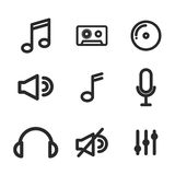 music set icons design Stock Images